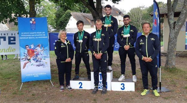 Championnat canoë médailles